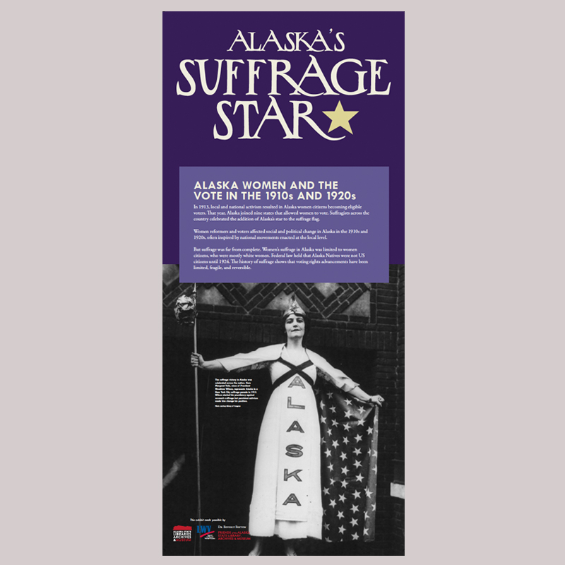 Alaska's Suffrage Star, State Museum